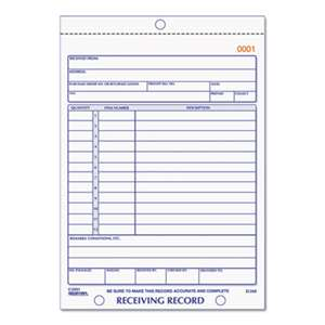 REDIFORM OFFICE PRODUCTS Receiving Record Book, 5 9/16 x 7 15/16, Three-Part Carbonless, 50 Sets/Book