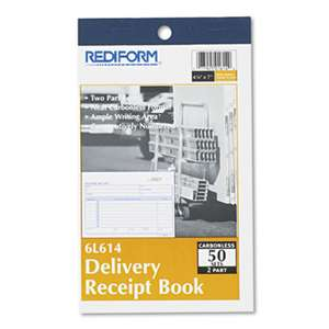 REDIFORM OFFICE PRODUCTS Delivery Receipt Book, 6 3/8 x 4 1/4, Two-Part Carbonless, 50 Sets/Book