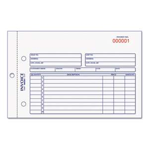 REDIFORM OFFICE PRODUCTS Invoice Book, 5 1/2 x 7 7/8, Carbonless Duplicate, 50 Sets/Book