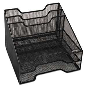 ELDON OFFICE PRODUCTS Combination Sorter, Five Sections, Mesh, 12 1/2 x 11 1/2 x 9 1/2, Black