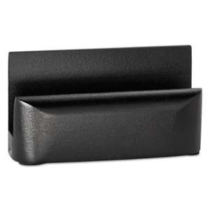 ROLODEX Wood Tones Business Card Holder, Capacity 50 2 1/4 x 4 Cards, Black