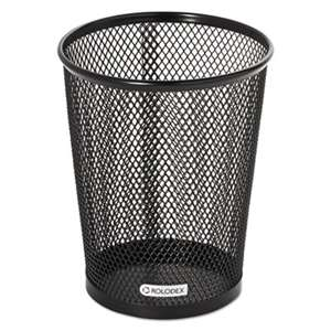 ROLODEX Nestable Jumbo Wire Mesh Pencil Cup, 4 3/8 dia. x 5 2/5, Black