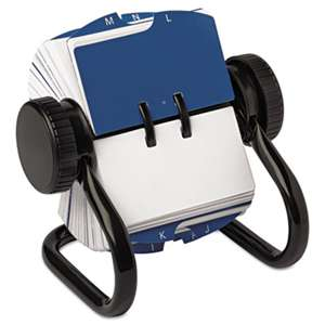 ROLODEX Open Rotary Card File Holds 250 1 3/4 x 3 1/4 Cards, Black