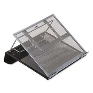 ELDON OFFICE PRODUCTS Laptop Stand/Holder, 13w x 11 3/4d x 6 3/4h, Black/Silver