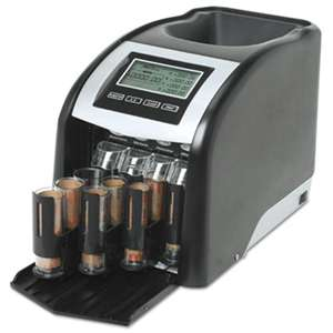 ROYAL SOVEREIGN INTERNATIONAL Fast Sort FS-44P Digital Coin Sorter, Pennies Through Quarters, Black/Silver