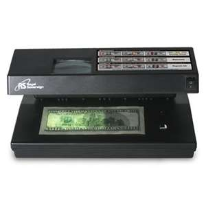 ROYAL SOVEREIGN INTERNATIONAL Portable 4-Way Counterfeit Detector, UV, Fluorescent, Magnetic, Magnifier