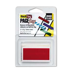 REDI-TAG CORPORATION Removable/Reusable Page Flags, Red, 300/Pack