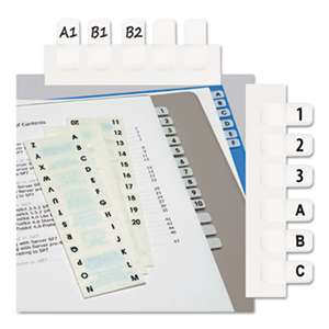 REDI-TAG CORPORATION Side-Mount Self-Stick Plastic A-Z Index Tabs, 1 inch, White, 104/Pack
