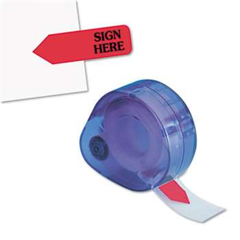 "REDI-TAG CORPORATION Arrow Message Page Flags in Dispenser, ""Sign Here"", Red, 120 Flags/ Dispenser"