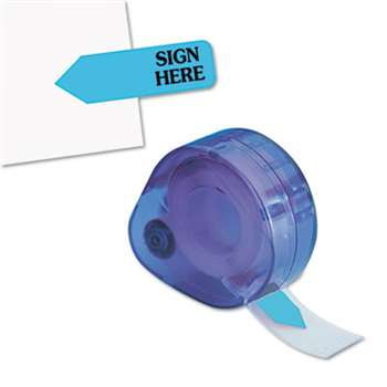 "REDI-TAG CORPORATION Arrow Message Page Flags in Dispenser, ""Sign Here"", Blue, 120 Flags/Dispenser"