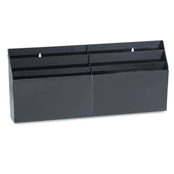 "RUBBERMAID Optimizers Six-Pocket Organizer, 26 21/32"" x 3 4/5"" x 11 9/16"", Black"