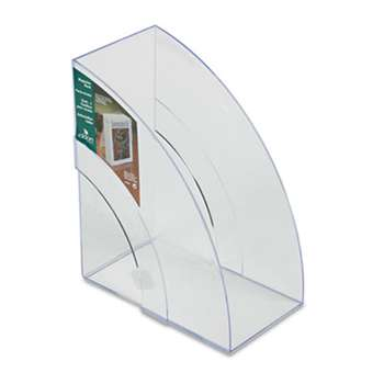 RUBBERMAID Optimizers Deluxe Plastic Magazine Rack, 5 1/4 x 9 x 11 1/8, Clear