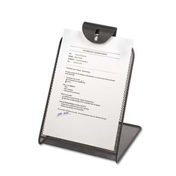 SAFCO PRODUCTS Onyx Mesh Copyholder w/Steel Ball Fastener, Black