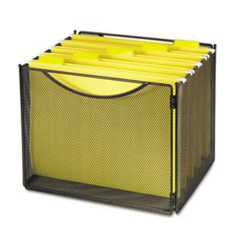 SAFCO PRODUCTS Desktop File Storage Box, Steel Mesh, 12-1/2w x 11d x 10h