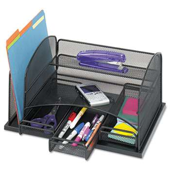 SAFCO PRODUCTS Three Drawer Organizer, Steel, 16 x 11 1/2 x 8 1/4, Black