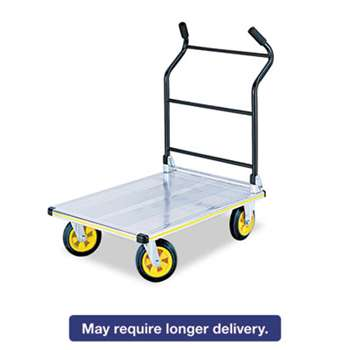 SAFCO PRODUCTS Stow-Away Platform Truck, 1000 lb Capacity, 24 x 39 x 40, Aluminum/Black