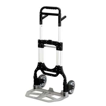 SAFCO PRODUCTS Stow-Away Heavy-Duty Hand Truck, 500lb Capacity, 23w x 24d x 50h, Aluminum