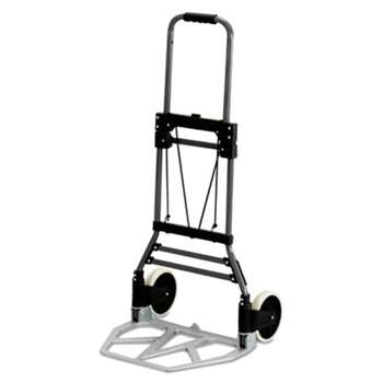 SAFCO PRODUCTS Stow-Away Medium Hand Truck, 275lb Capacity, 19w x 17 3/4d x 38 3/4h, Aluminum