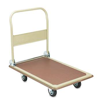 SAFCO PRODUCTS FoldAway Platform Trucks, 900lb, 24 x 34 x 36, Tropic Sand/Brown