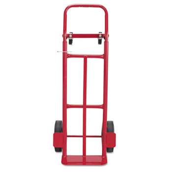 SAFCO PRODUCTS Two-Way Convertible Hand Truck, 500-600lb Capacity, 18w x 51h, Red