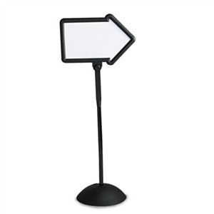 Safco 4173BL Double-Sided Arrow Sign, Dry Erase Magnetic Steel, 25 1/2 x 17 3/4, Black Frame