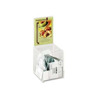 SAFCO PRODUCTS Small Acrylic Collection Box, 5 1/2 x 5 1/2 x 13, Clear