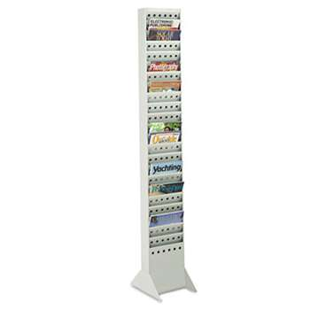 Safco 4323GR Steel Base for Magazine Rack, Gray, 10w x 14d x 5-1/4, Gray