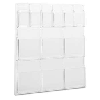 SAFCO PRODUCTS Reveal Clear Literature Displays, 12 Compartments, 30w x 2d x 34-3/4h, Clear