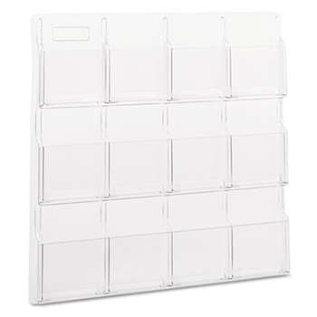 SAFCO PRODUCTS Reveal Clear Literature Displays, 12 Compartments, 30w x 2d x 30h, Clear