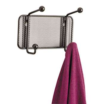 SAFCO PRODUCTS Onyx Mesh Wall Racks, 2-Hook, Steel