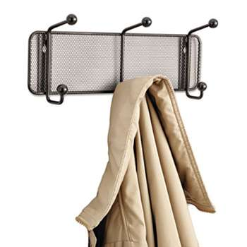 SAFCO PRODUCTS Onyx Mesh Wall Racks, 3 Hook, Steel
