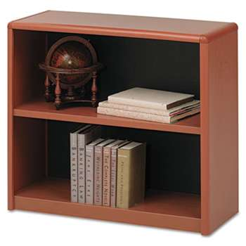 SAFCO PRODUCTS Value Mate Series Metal Bookcase, Two-Shelf, 31-3/4w x 13-1/2d x 28h, Cherry