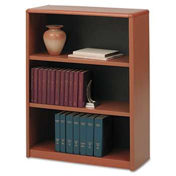 SAFCO PRODUCTS Value Mate Series Metal Bookcase, Three-Shelf, 31-3/4w x 13-1/2d x 41h, Cherry