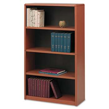 SAFCO PRODUCTS Value Mate Series Metal Bookcase, Four-Shelf, 31-3/4w x 13-1/2d x 54h, Cherry