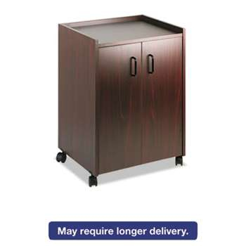 SAFCO PRODUCTS Mobile Refreshment Center, One-Shelf, 23w x 18d x 31h, Mahogany