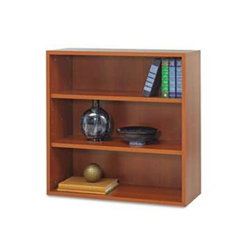 SAFCO PRODUCTS AprŠs Open Bookcase, Three-Shelf, 29-3/4w x 11-3/4d x 29-3/4h, Cherry