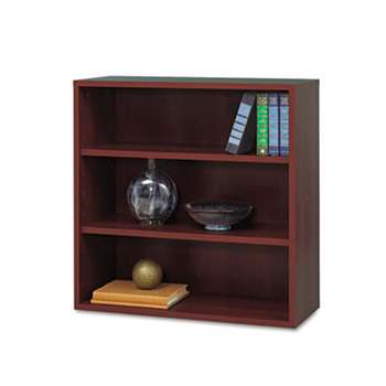 SAFCO PRODUCTS AprŠs Open Bookcase, Three-Shelf, 29-3/4w x 11-3/4d x 29-3/4h, Mahogany