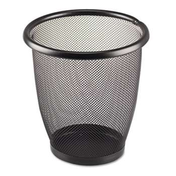 SAFCO PRODUCTS Onyx Round Mesh Wastebasket, Steel Mesh, 3qt, Black