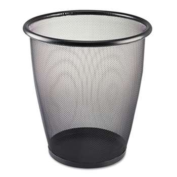 SAFCO PRODUCTS Onyx Round Mesh Wastebasket, Steel Mesh, 5gal, Black