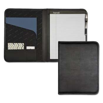 SAMSILL CORPORATION Professional Padfolio, Storage Pockets/Card Slots, Writing Pad, Black