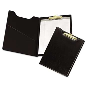 SAMSILL CORPORATION Value Padfolio, Heavyweight Sealed Vinyl, Brass Clip, Inside Front Pocket, Black