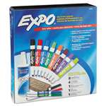 SANFORD Low-Odor Dry Erase Marker, Eraser & Cleaner, Chisel/Fine, 12/Set