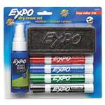 SANFORD Low Odor Dry Erase Marker Starter Set, Chisel, Assorted, 4/Set