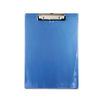"SAUNDERS MFG. CO., INC. Plastic Clipboard, 1/2"" Capacity, 8 1/2 x 12 Sheets, Ice Blue"