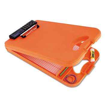 "SAUNDERS MFG. CO., INC. DeskMate II w/Calculator, 1/2"" Clip Cap, 8 1/2 x 12 Sheets, Hi-Vis Orange"
