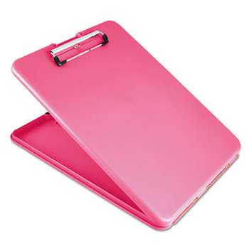 "SAUNDERS MFG. CO., INC. SlimMate Portable Desktop, 1/2"" Clip Cap, 8 1/2 x 11 Sheets, Pink"