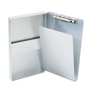 "SAUNDERS MFG. CO., INC. Snapak Aluminum Side-Open Forms Folder, 3/8"" Clip, 5 2/3 x 9 1/2 Sheets, Silver"