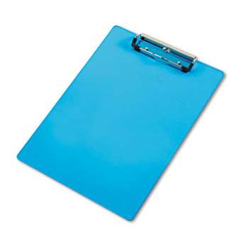 "SAUNDERS MFG. CO., INC. Acrylic Clipboard, 1/2"" Capacity, Holds 8-1/2w x 12h, Transparent Blue"