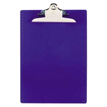 "SAUNDERS MFG. CO., INC. Recycled Plastic Clipboards, 1"" Clip Cap, 8 1/2 x 12 Sheets, Blue"