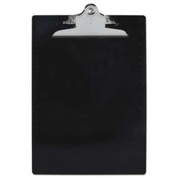 "SAUNDERS MFG. CO., INC. Recycled Plastic Clipboards, 1"" Clip Cap, 8 1/2 x 12 Sheets, Black"